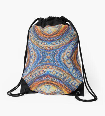 Demicircles #DeepDream Drawstring Bag
