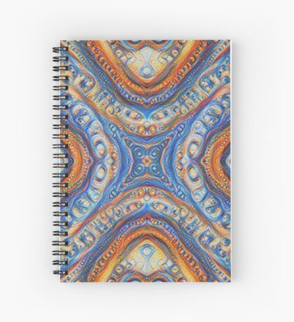 Demicircles #DeepDream Spiral Notebook