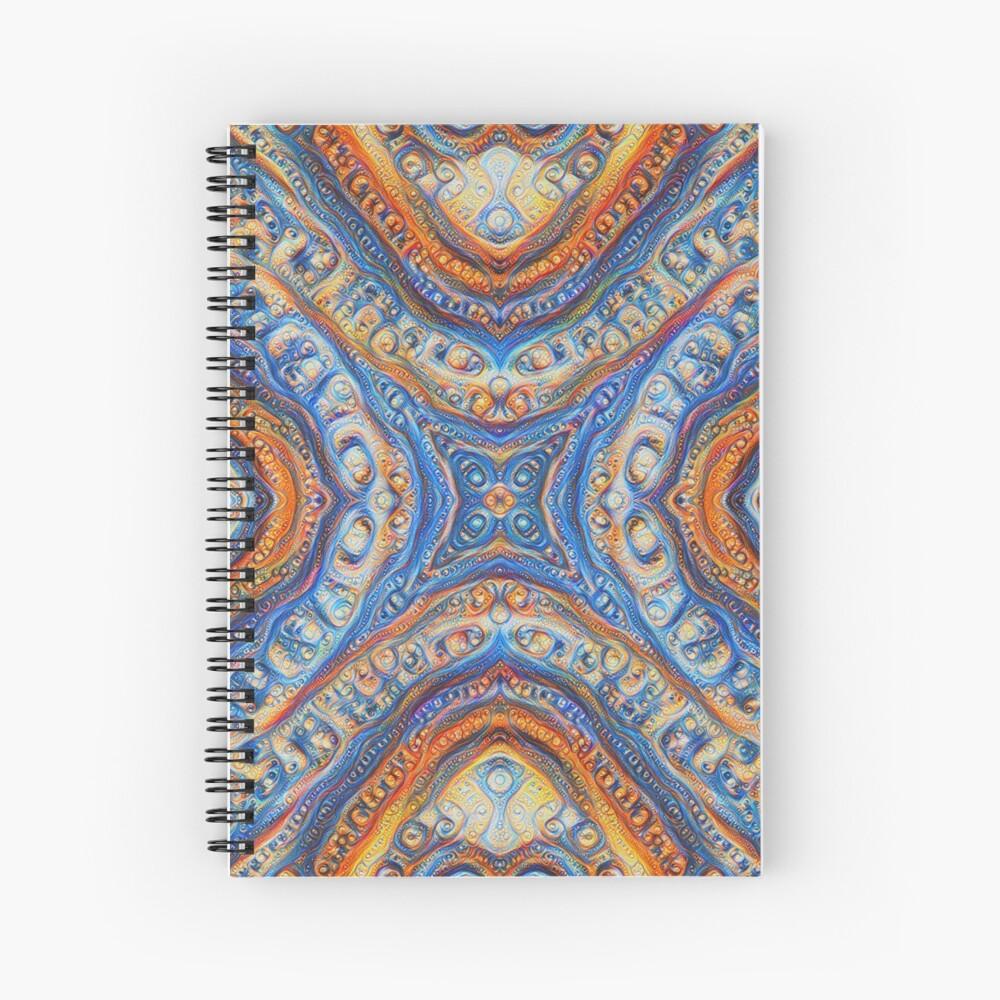Demicircles #DeepDream Spiral Notebook