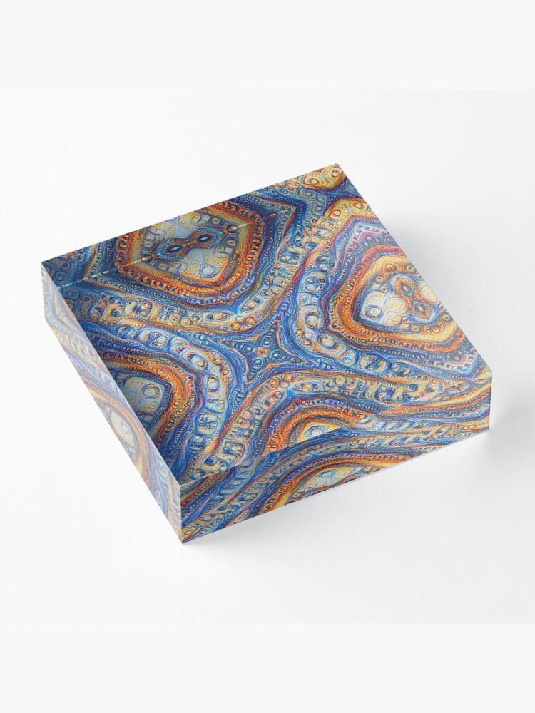 Alternate view of Demicircles #DeepDream Acrylic Block