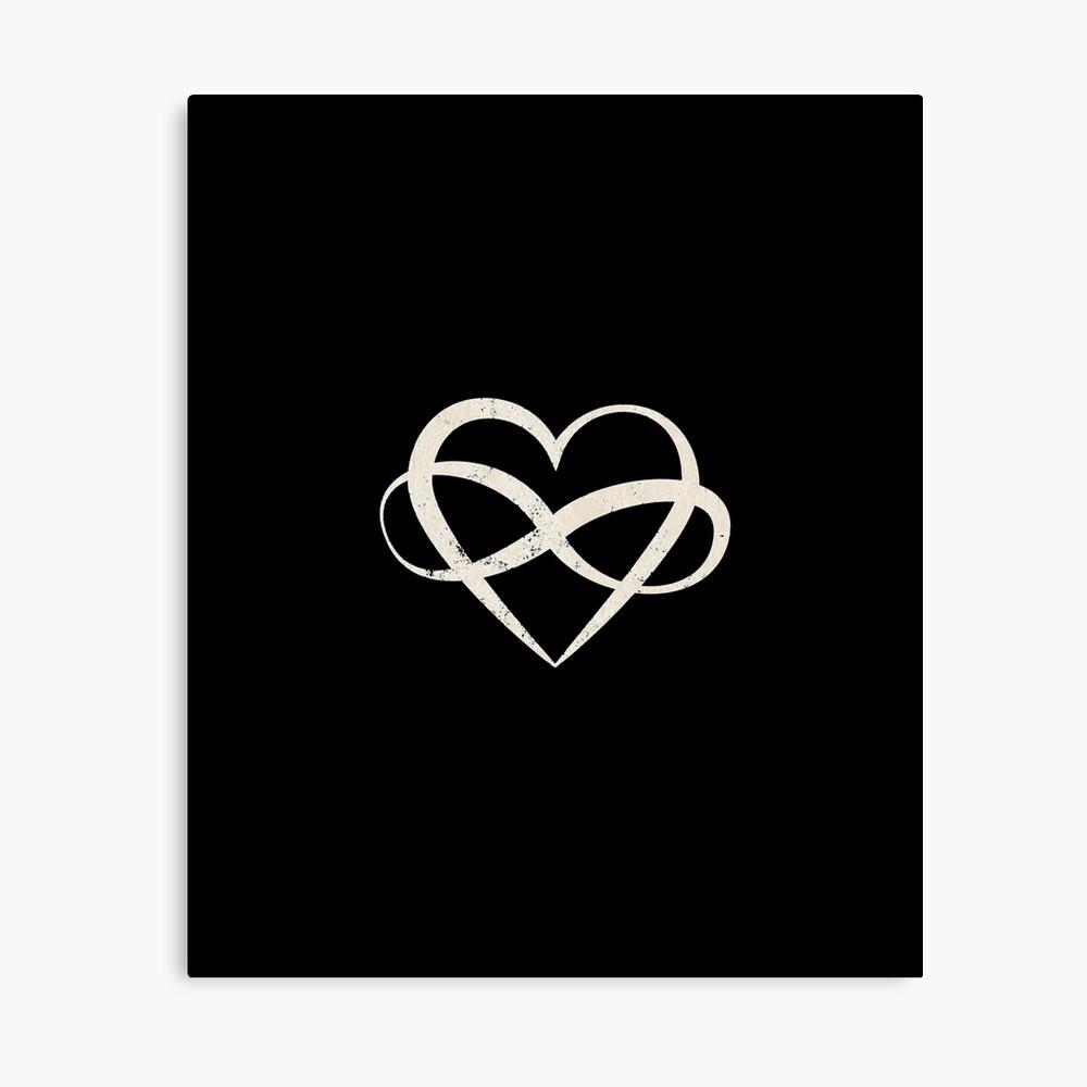 Infinity Heart Polyamory Symbol | Canvas Print