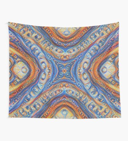 Demicircles #DeepDream Wall Tapestry
