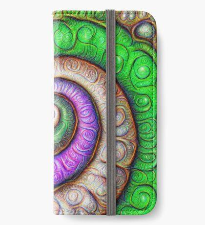 Fibonacci spiral #DeepDream #Art iPhone Wallet