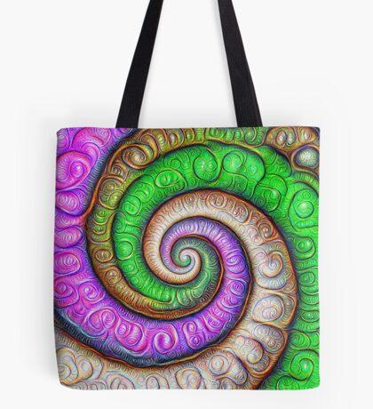Fibonacci spiral #DeepDream #Art Tote Bag