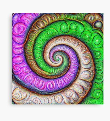 Fibonacci spiral #DeepDream #Art Canvas Print
