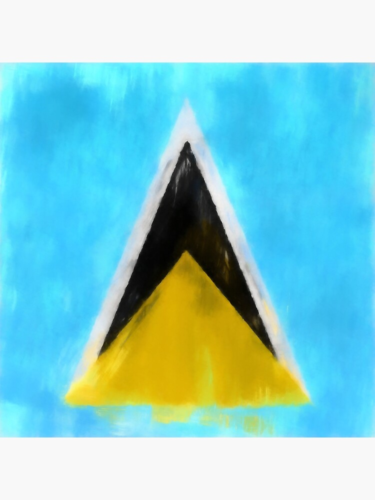 Saint Lucia Flag Reworked No. 1, Series 1 by 8th-and-f