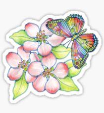 Rainbow Butterfly Blossoms Sticker