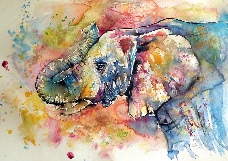 26b3898fef Majestic colourful elephant