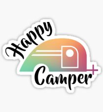 Happy Camping Fun Sticker