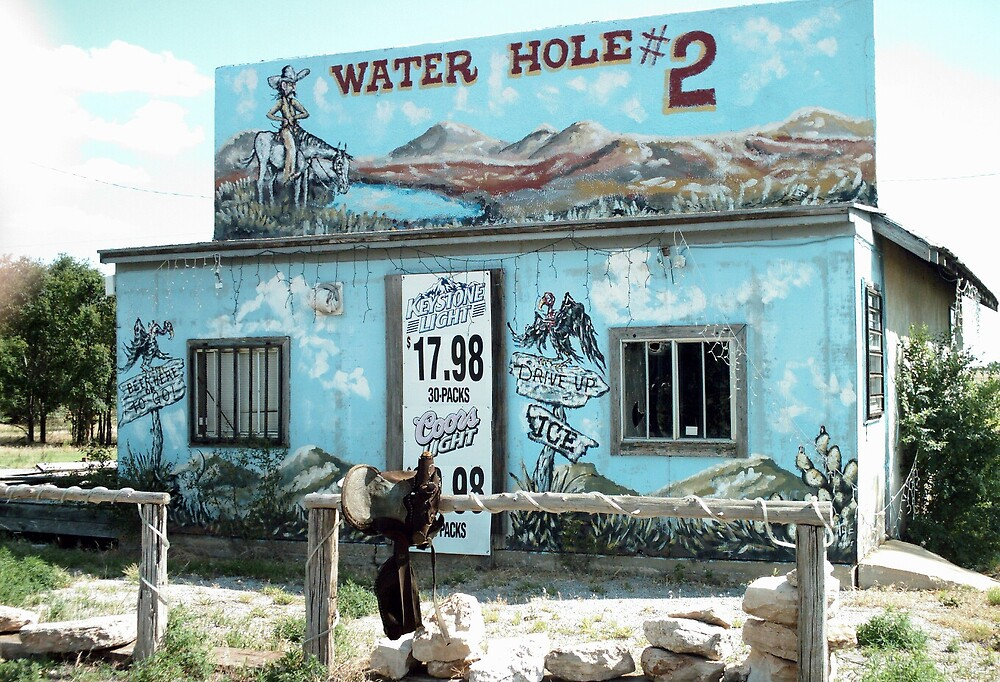 Watering Hole Texola All Dried Up by Paul Butler