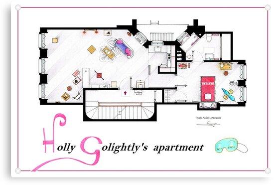 Breakfast at Tiffany's Apartment Floorplan v2 by Iñaki Aliste Lizarralde