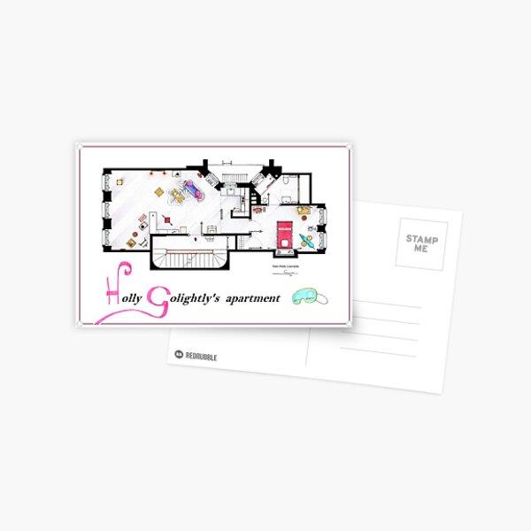 Breakfast at Tiffany's Apartment Floorplan v2 Postcard