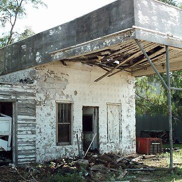 Oklahoma Garage Ruin by spiritofroute66