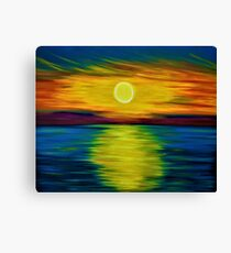 Drift Away - Large Abstract Seascape Sunset Oil Painting  Canvas Print