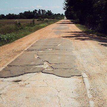 Old 66 Road Quapaw Oklahoma by spiritofroute66