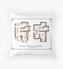 "Floorplan of the House from ""UP"" Throw Pillow"
