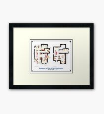 "Floorplan of the House from ""UP"" Framed Print"