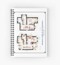 """Floorplan of the House from """"UP"""" Spiral Notebook"""
