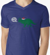 Ho Ho Ho - Merry Tricera-mas Men's V-Neck T-Shirt