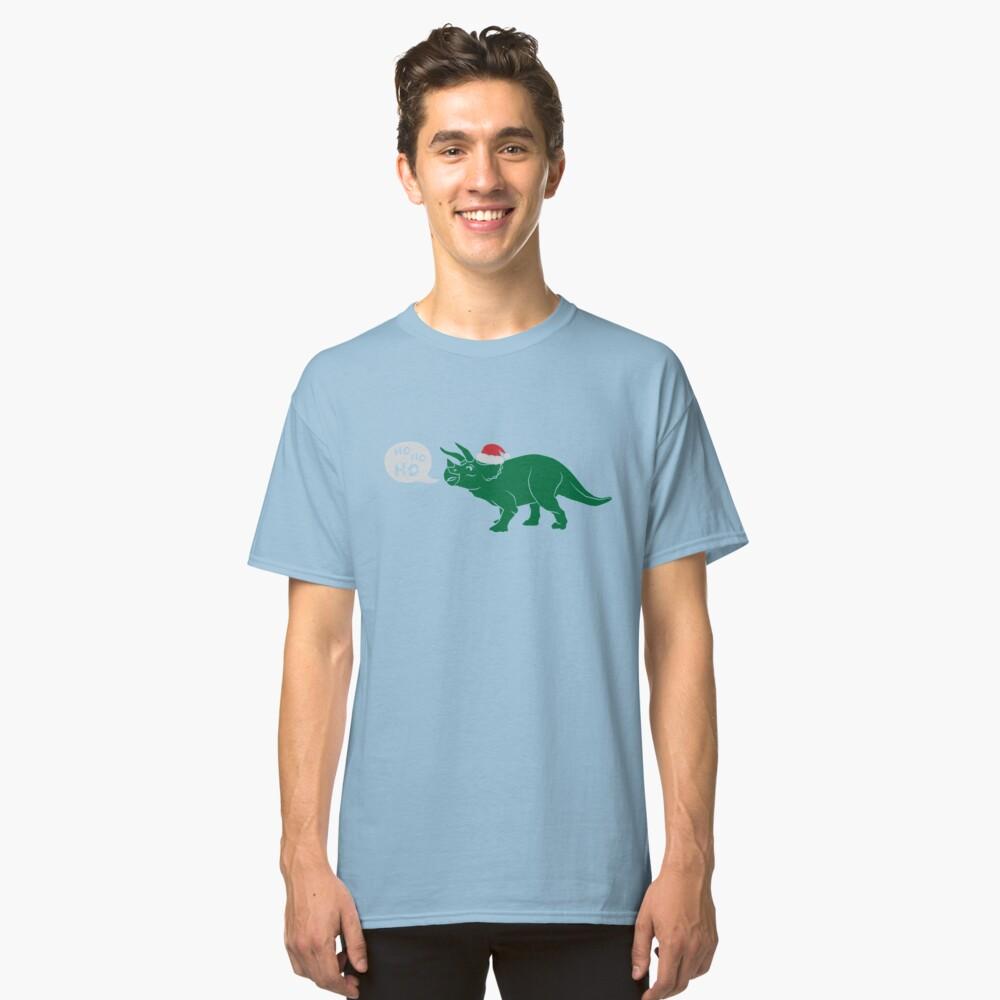 Ho Ho Ho - Merry Tricera-mas Classic T-Shirt Front