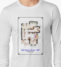 The House from UP - Ground Floor Floorplan Long Sleeve T-Shirt