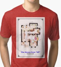 The House from UP - Ground Floor Floorplan Tri-blend T-Shirt