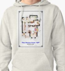 The House from UP - Ground Floor Floorplan Pullover Hoodie