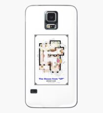 The House from UP - Ground Floor Floorplan Case/Skin for Samsung Galaxy