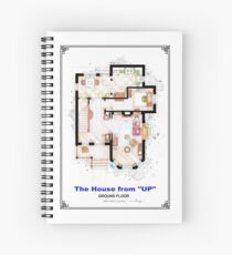 The House from UP - Ground Floor Floorplan Spiral Notebook