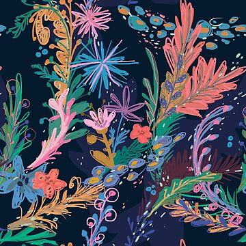 floral pattern by MyMoonart