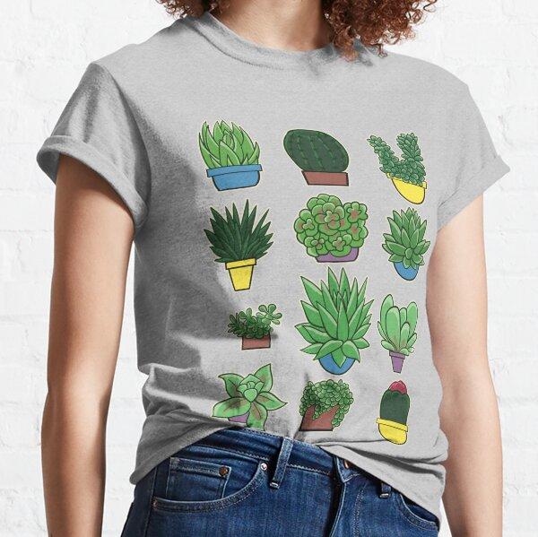 Succulents Cacti Garden Pots Classic T-Shirt