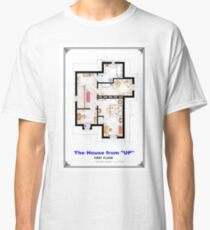 The House from UP - First Floor Floorplan Classic T-Shirt