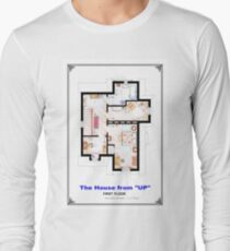 The House from UP - First Floor Floorplan Long Sleeve T-Shirt