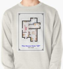 The House from UP - First Floor Floorplan Pullover