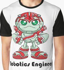 """Robobot """"Off to Mars"""" / Three / Robotics Engineer Graphic T-Shirt"""