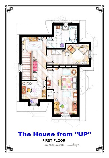 The House from UP - First Floor Floorplan\