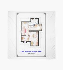 The House from UP - First Floor Floorplan Scarf