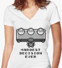 Pokemon - Hardest decision ever Women's Fitted V-Neck T-Shirt