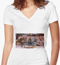 Chandler, Ross, and Joey Women's Fitted V-Neck T-Shirt
