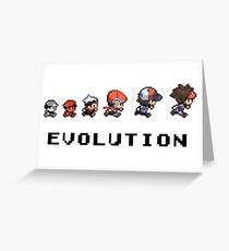 The Evolution of Pokemon Greeting Card