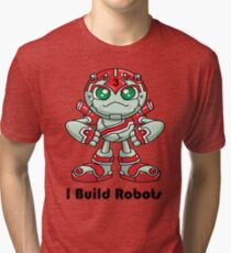 "Robobot ""Off to Mars"" / Three / I Build Robots Tri-blend T-Shirt"