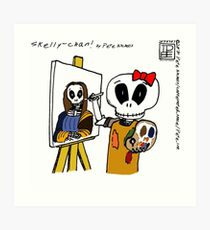 Skelly-chan PAINTS Art Print