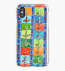 Colorful Planting Plants in Squares Pattern  iPhone Case/Skin