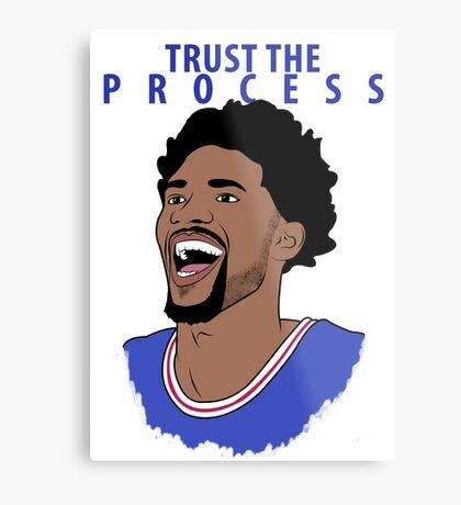 Trust the Process Metal Print