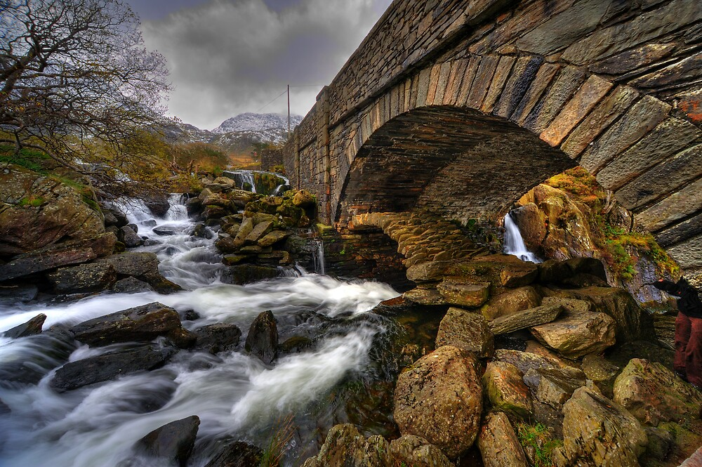 Bridge over River Ogwen by Owen Burke