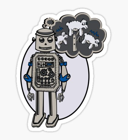 Robots and Sheep Sticker