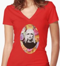 I Want Candy...Debbie Women's Fitted V-Neck T-Shirt