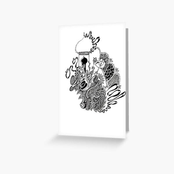Black Ribbon Greeting Card