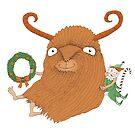 Lil Krampus Happy Monster by SusanSanford