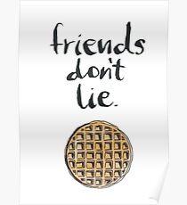 Stranger things, Friends don't lie Poster
